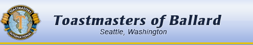 Toastmasters of Ballard, Seattle, Washington